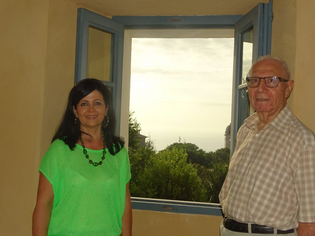 Armand Guerra (Maire) et Nathalie Chiaramonti (Conseillère municipale), au couvent Saint-François