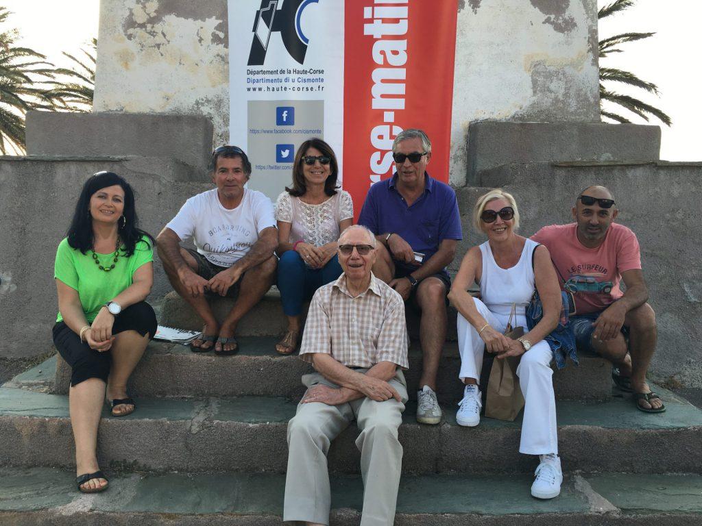 Mme Retali (Conseillère départementale), A. Guerra (Maire) , J.M. Simonetti (Adjoint), F. Bourgeois, N. Chiaramonti et S. Gassmann (élus municipaux), Y. Pellegrini