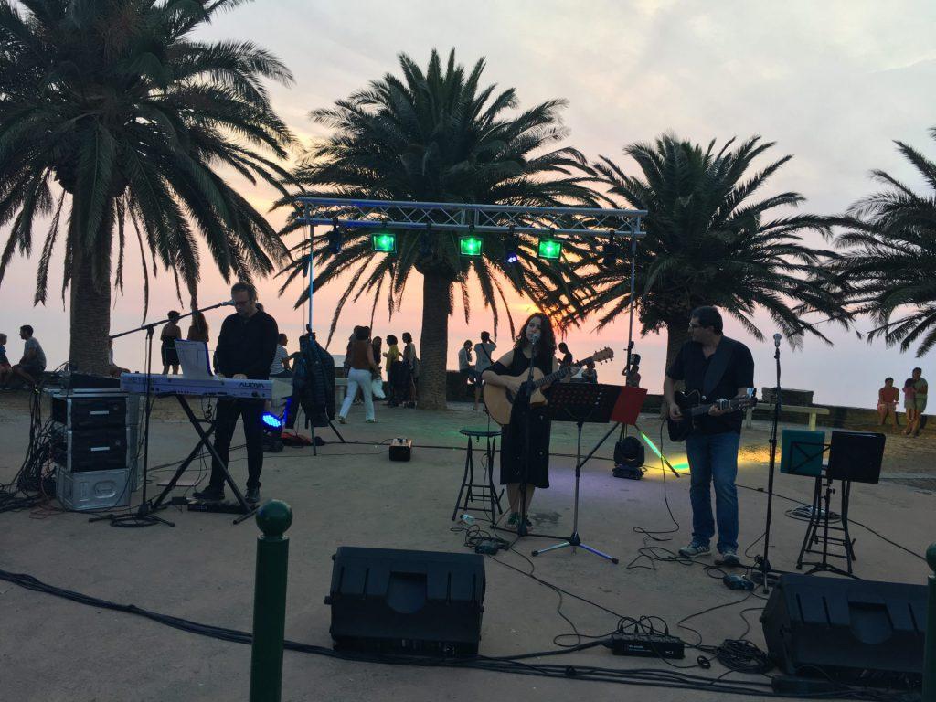 Le groupe Mica Nome en début de soirée
