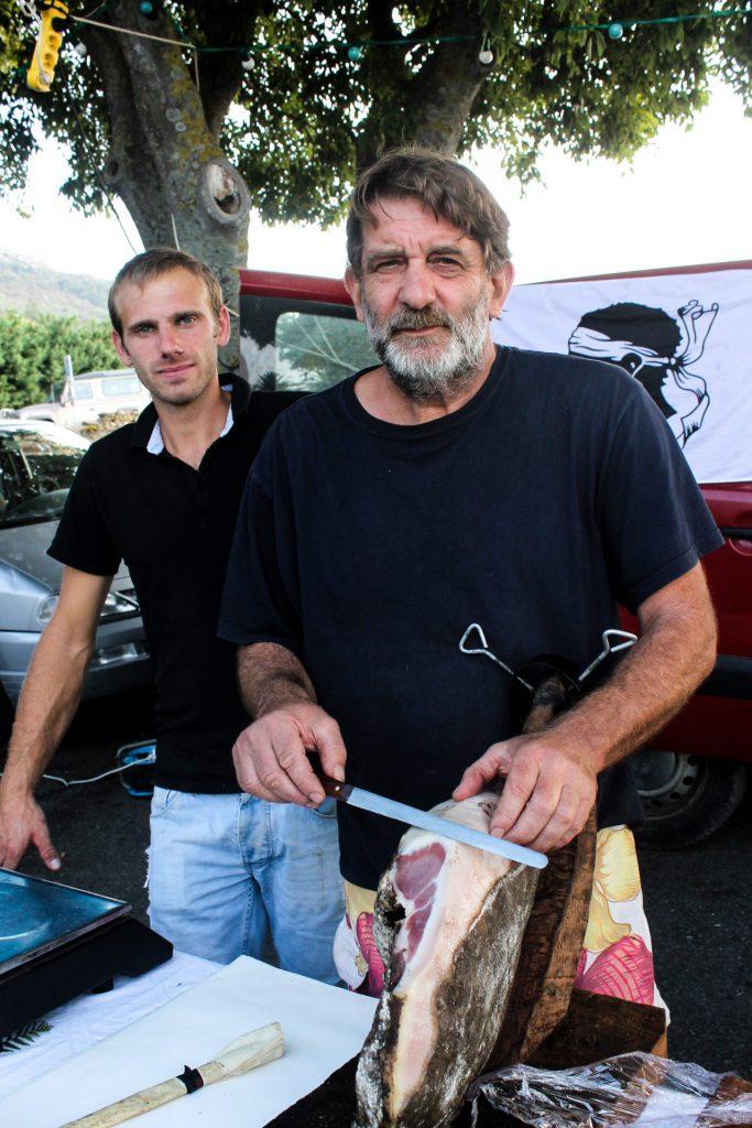 Pascal Santini et Octavien Meschini (éleveurs porcin et caprin)